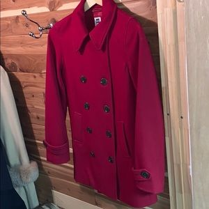 Gap Red wool winter peacoat M